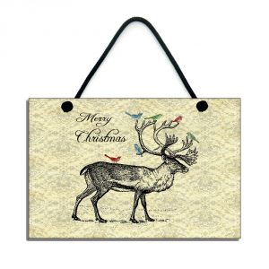 christmas reindeer merry christmas home sign