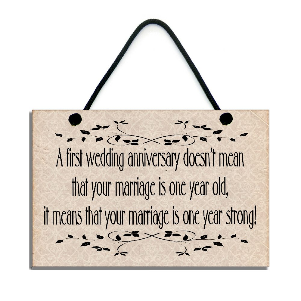 First Wedding Anniversary.Anniversary Gift A First Wedding Anniversary