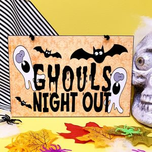 halloween sign ghouls night out
