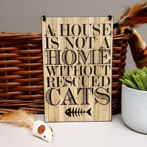 a house is not a home without rescued cats