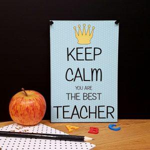 Keep Calm You Are The Best Teacher