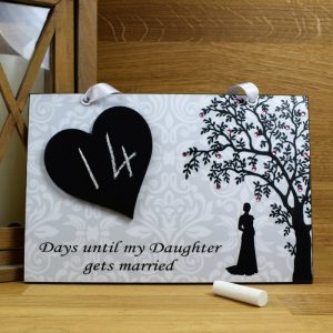 mother of the bride gift countdown plaque
