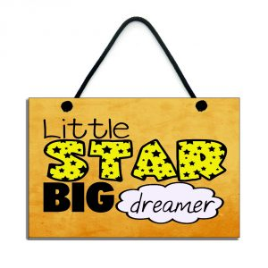 little star big dreamer kids inspirational plaque