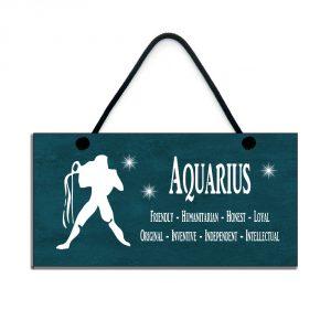 aquarius zodiac plaque birthday star sign gift