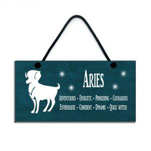 aries zodiac plaque birthday star sign gift