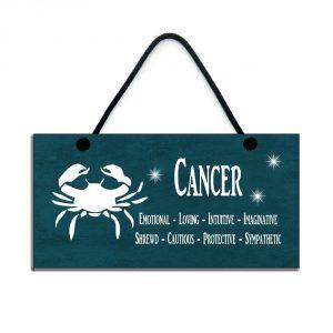 cancer zodiac plaque birthday star sign gift