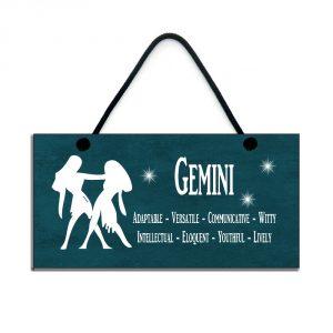 gemini zodiac star sign plaque