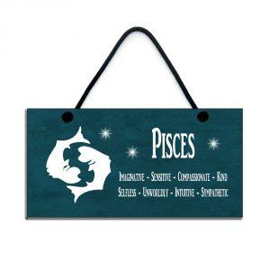 pisces zodiac plaque birthday star sign gift