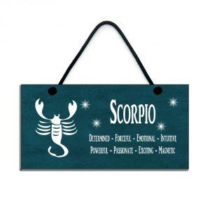 scorpio zodiac plaque birthday star sign gift