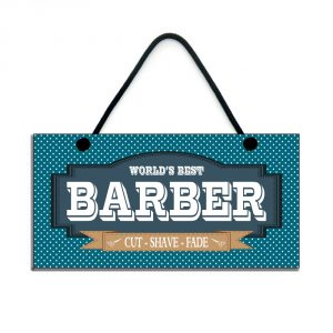 barber gift world's best barber cut shave fade