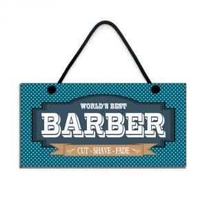 barber gift world's best barber cut shave fade