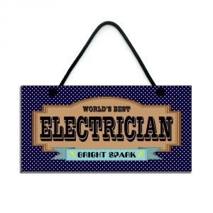 world's best electrician bright spark gift