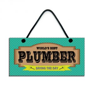 world's best plumber gift saving the day