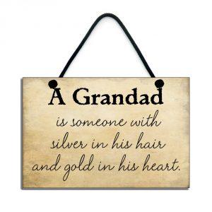 grandad plaque a grandad is someone with silver
