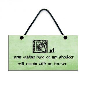 inspirational dad plaque dad your guiding hand