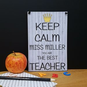 teacher gift keep calm personalised you are the best