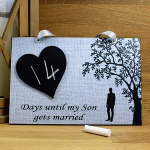 mother of the groom gift countdown plaque