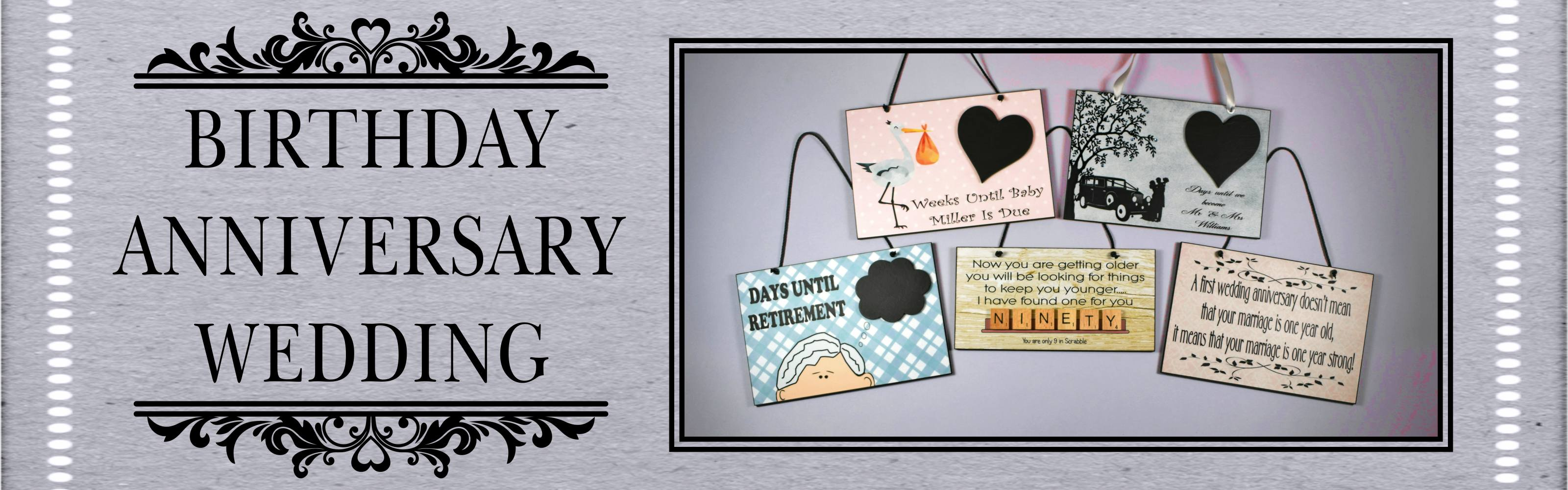 birthday wedding anniversary plaques