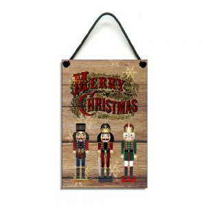 traditional merry christmas nutcracker plaque