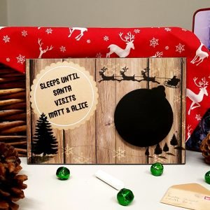 personalised christmas countdown chalkboard plaque