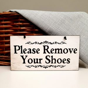shoes off sign please remove your shoes