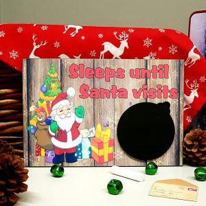 christmas countdown plaque sleeps until santa visits