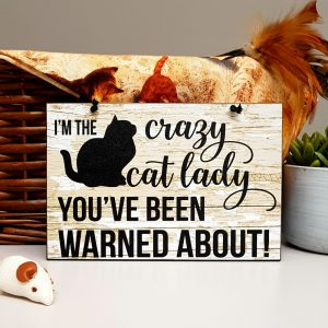 the crazy cat lady you've been warned about